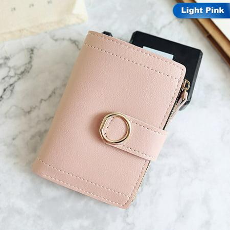 SHOPFIVE Best Small Women Luxury Leather Wallet Famous Brand Mini Women Purses Handbags Women`s Short Zipper Purse Coin Holder Credit
