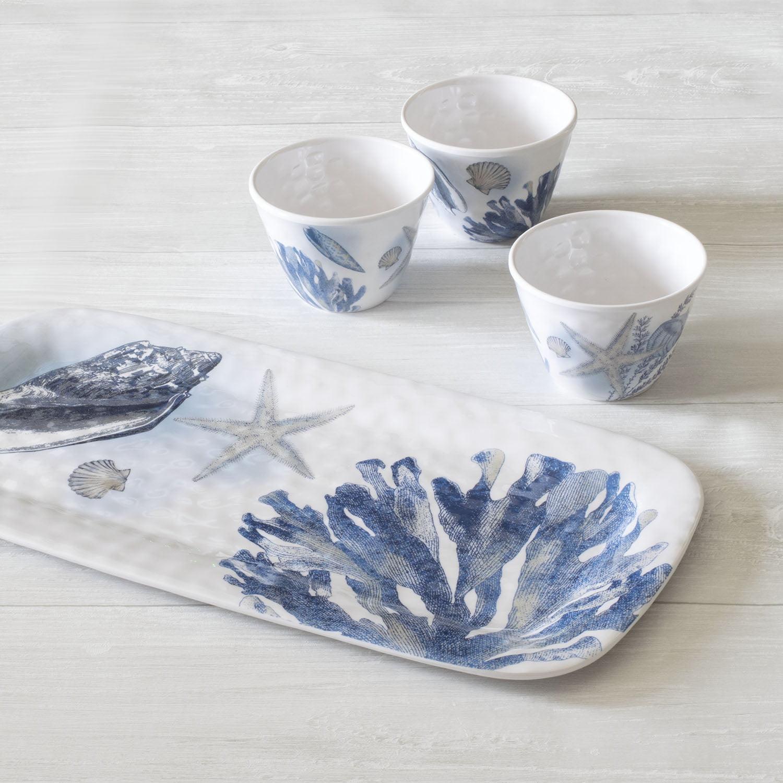 Better Homes & Gardens Coral Reef Platter & Dip Melamine Bowl Set