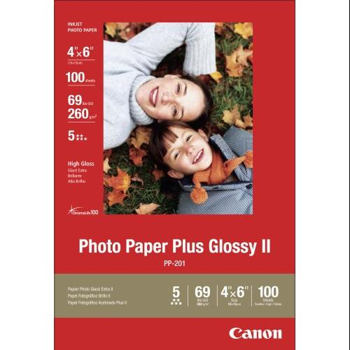 "Canon Pp-201 Photo Paper Plus Ii - 4"" X 6"" - Glossy - 100 X Sheet (2311b023)"