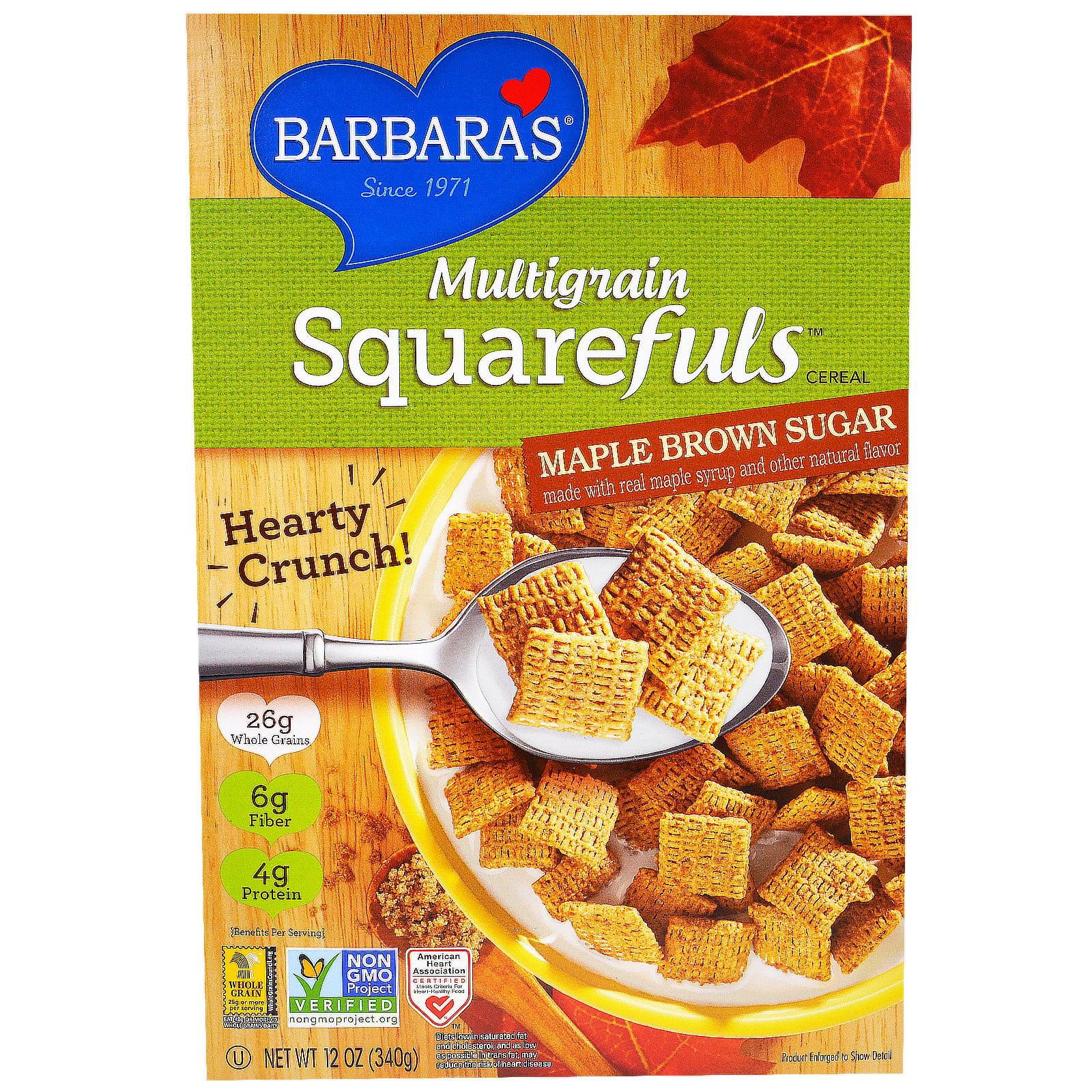 Barbara's Bakery, Multigrain Squarefuls Cereal, Maple