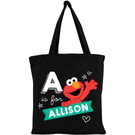 Personalized Tote Bag - Sesame Street Elmo Heart Chalkboard Black](Custom Tote Bags)