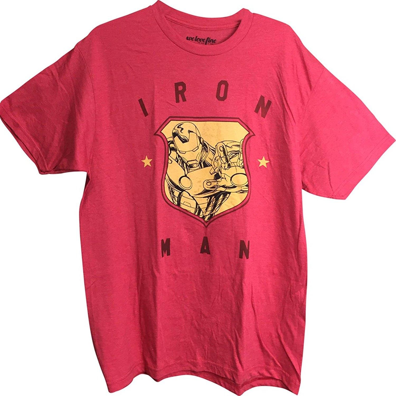 Iron Man Badge Men's T-Shirt Red