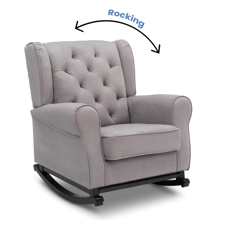 Delta Children Emma Nursery Baby, Leather Baby Rocking Chair
