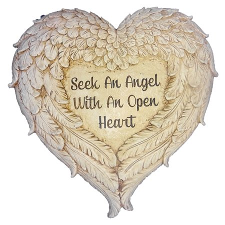 Roman Angel Wings Memorial Garden Marker Stepping Stone or Wall Hanging 12