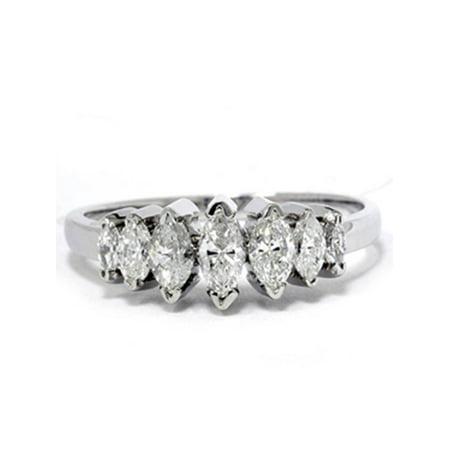 Pompeii3 14k White Gold 3 4ct Marquise Diamond
