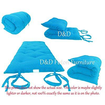 Brand New Full Size Turquoise Traditional Japanese Floor Futon Mattresses Foldable Cushion Mats Yoga
