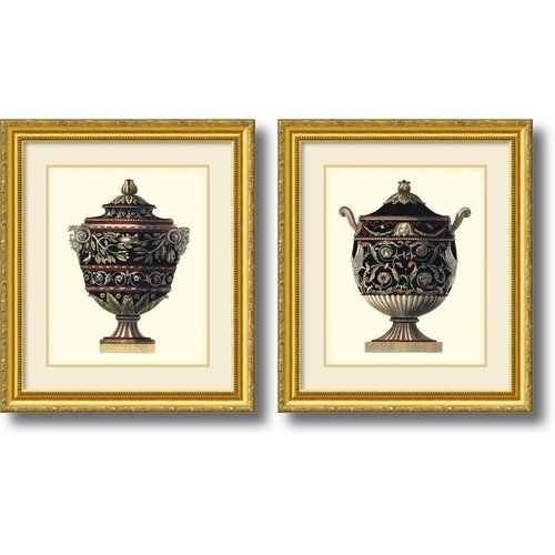 Amanti Art 'Antonini Clementino Urn I, IV' by Da Carlo Antonini 2 Piece Framed Photographic Print Set
