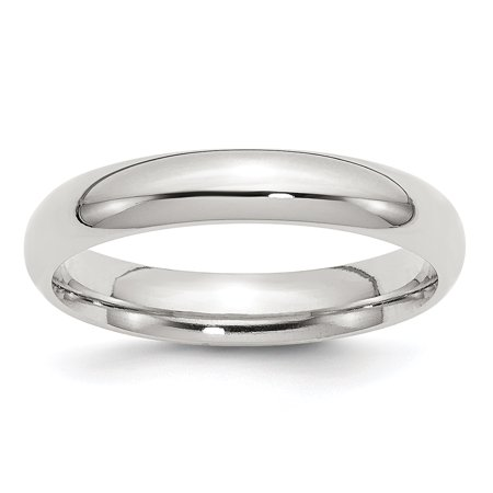 .925 Sterling Silver 4 MM Comfort Fit Wedding Band Ring, Size 7.5 MSRP $73 925 Comfort Fit Wedding Band