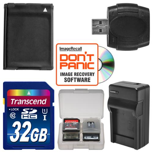 NB-11LH Battery & Charger + 32GB SD Card Essential Bundle for Canon PowerShot ELPH 135, 140, 150, 340 HS, SX400 IS Digital Camera