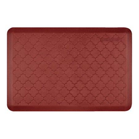 WellnessMats Estates Shades of Red Trellis - Floor mat - 36 in x 24 in - rectangular - sunset