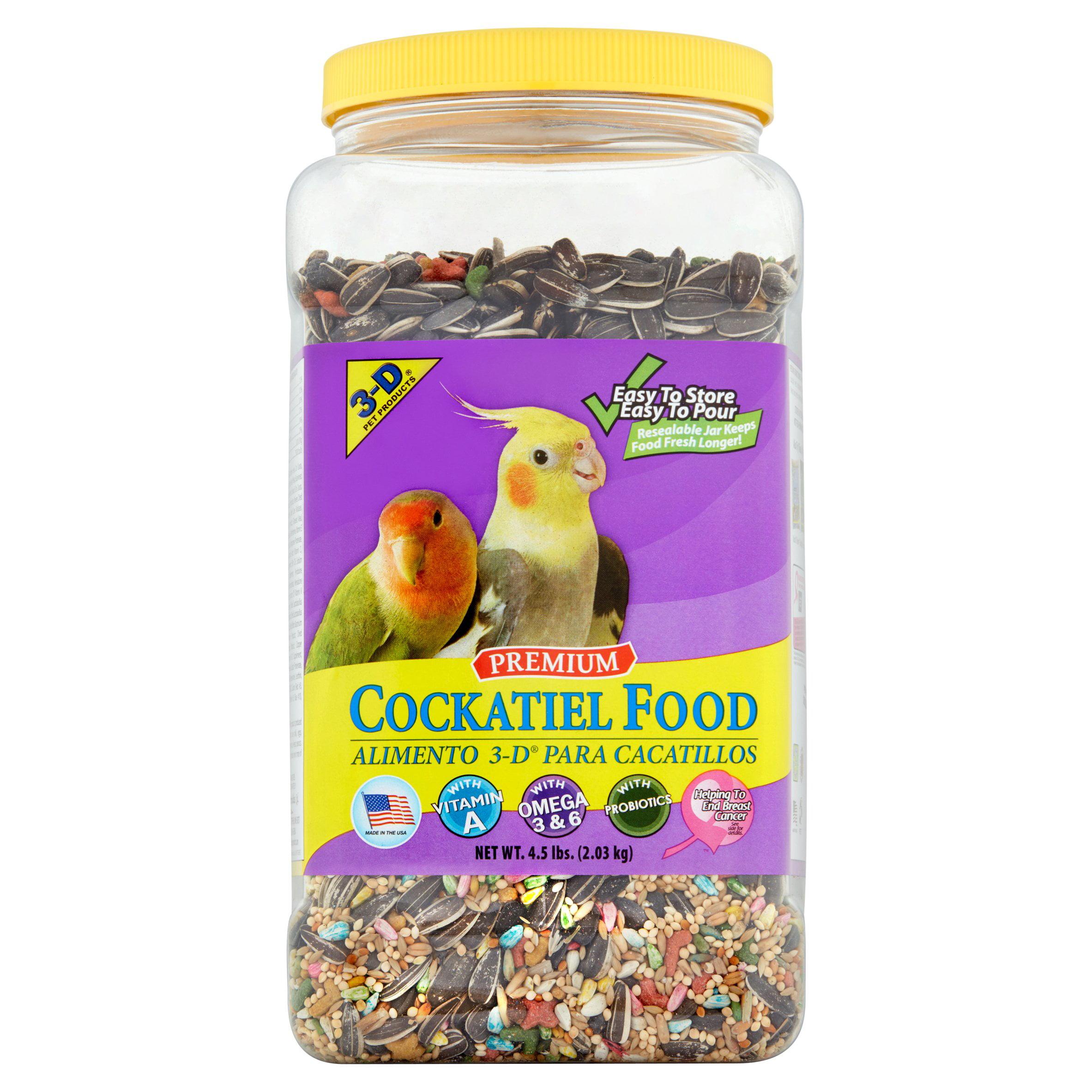 3-D Pet Products Premium Cockatiel Food, 4.5 lbs by D & D Commodities Ltd.
