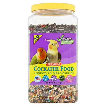 3-D Pet Products Premium Cockatiel Food, 4.5 lbs