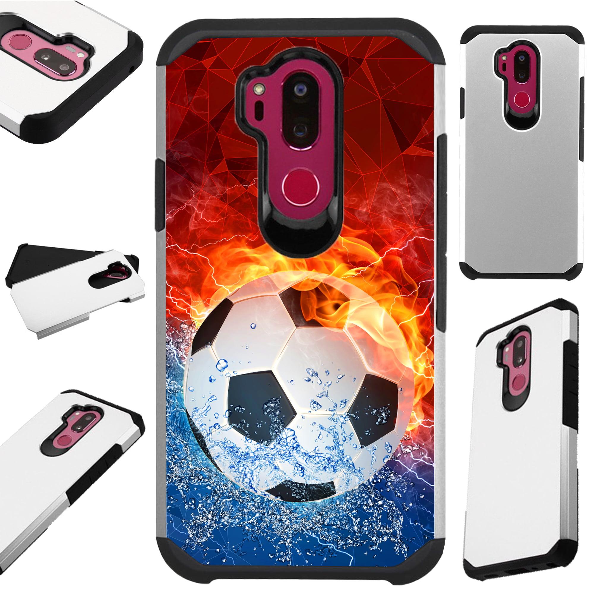 For LG G7 ThinQ | LG G7 Case Hybrid TPU Fusion Phone Cover (Soccer Storm)