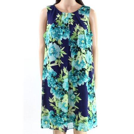 2158bb3138c40 Jessica Howard - Jessica Howard NEW Green Womens Size 10P Floral-Print  Shift Dress - Walmart.com