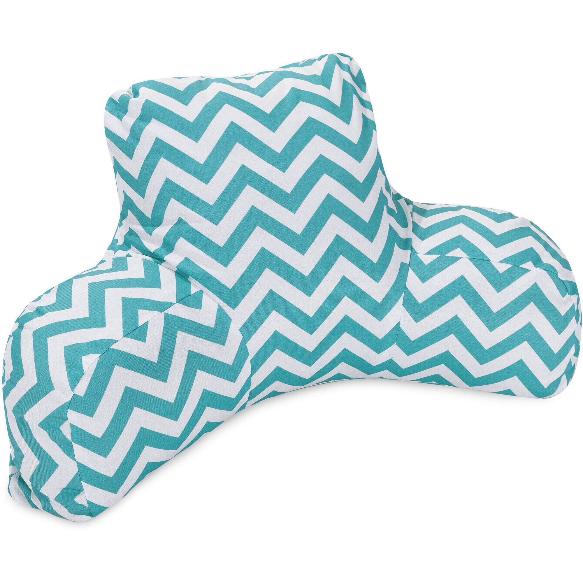 Majestic Home Goods Chevron Reading Pillow, Indoor/Outdoor