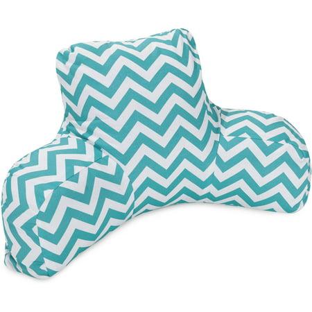Majestic Home Goods Chevron Reading Pillow Indoor Outdoor