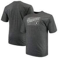 cda53d42 Product Image Men's Majestic Charcoal Oakland Raiders Big & Tall Royal  Domination Malt T-Shirt