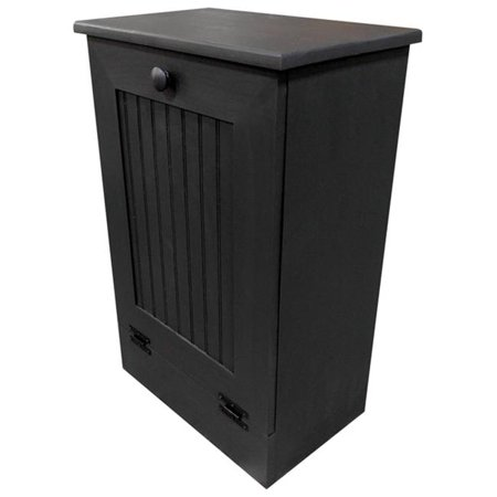 Sawdust City Wooden Trash Bin, Charcoal - Large ()