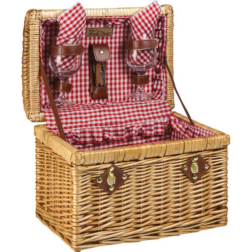 Picnic Time Chardonnay Wine Basket Set