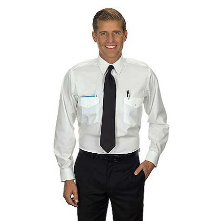 Van Heusen Pilot Shirt (Van Heusen Men's Commander Shirt - Long Sleeve 17.5 36/37 White)