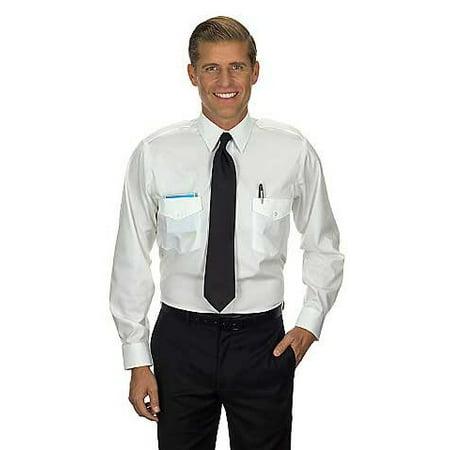 Van Heusen Men's Commander Shirt - Long Sleeve 17.5 36/37 White Dries Van Noten Men Shirts
