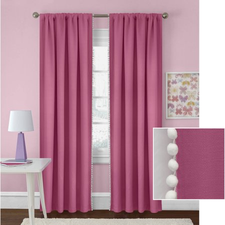 homes and gardens poms girls bedroom curtain panel