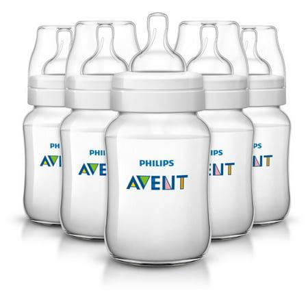 Philips Avent Anti Colic Baby Bottles  Clear  9Oz 5Pk  Scf403 57