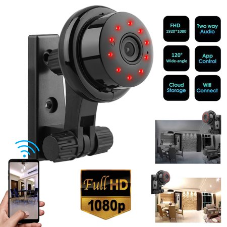 Wireless Camera, EEEKit 1080P HD Mini Wireless WiFi Smart Home Security Surveillance Camera with Night Vision, Two-Way Audio, Motion Detector, Remote Control, Support IOS Android Windows PC Wireless Motion Light Camera