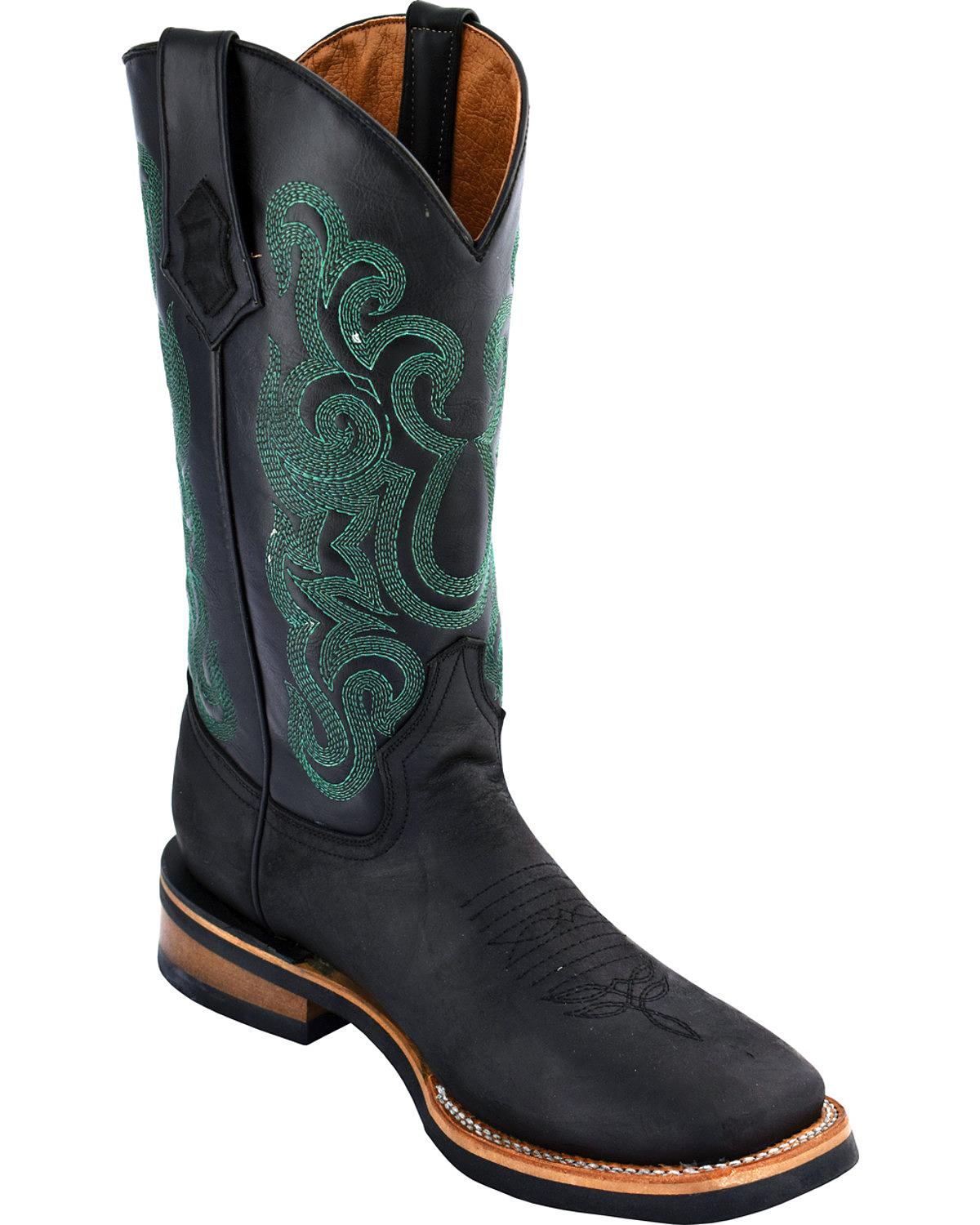 Ferrini Men's Maverick Cowboy Boot Square Toe 15093-04 by Ferrini