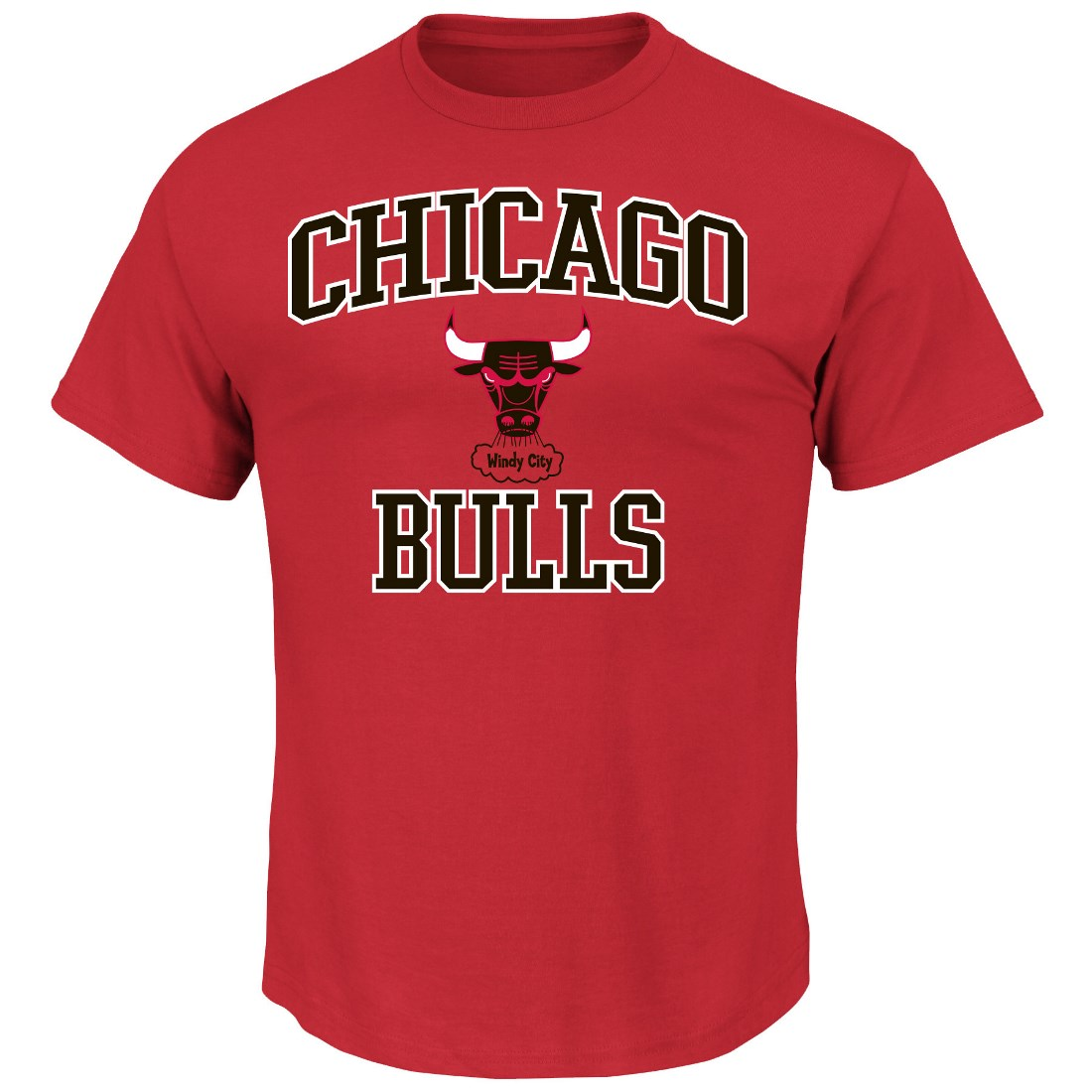 "Chicago Bulls Majestic NBA ""Heart & Soul"" Men's Red T-Shirt"