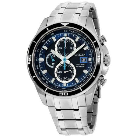 Citizen Men's Eco-Drive Super Titanium Chronograph Watch CA0349-51L Mesh Titanium Wrist Watch