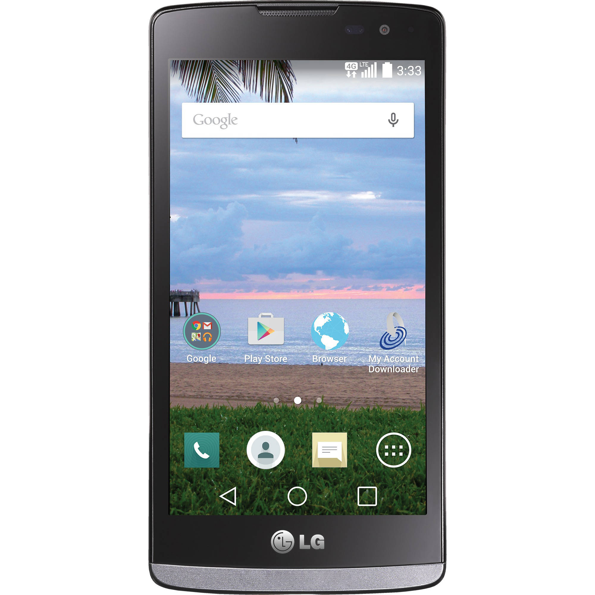 Straight Talk LG Sunset 8GB Prepaid Smartphone, Black