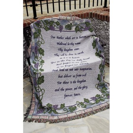 Lords Prayer Throw (Manual Woodworkers & Weavers The Lord's Prayer Tapestry Throw )