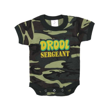 Rothco Infant Drool Sergeant One-Piece, Onesie, Woodland Camo