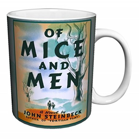 John Steinbeck Of Mice And Men Classic Literature Literary Vintage Book Cover Art Decorative Ceramic Gift Coffee  Tea  Cocoa  11 Oz  Mug