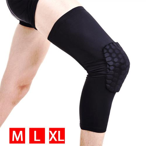 Yaheetech Leg Knee Pad Sleeve Protector Gear Basketball Antislip - Black M