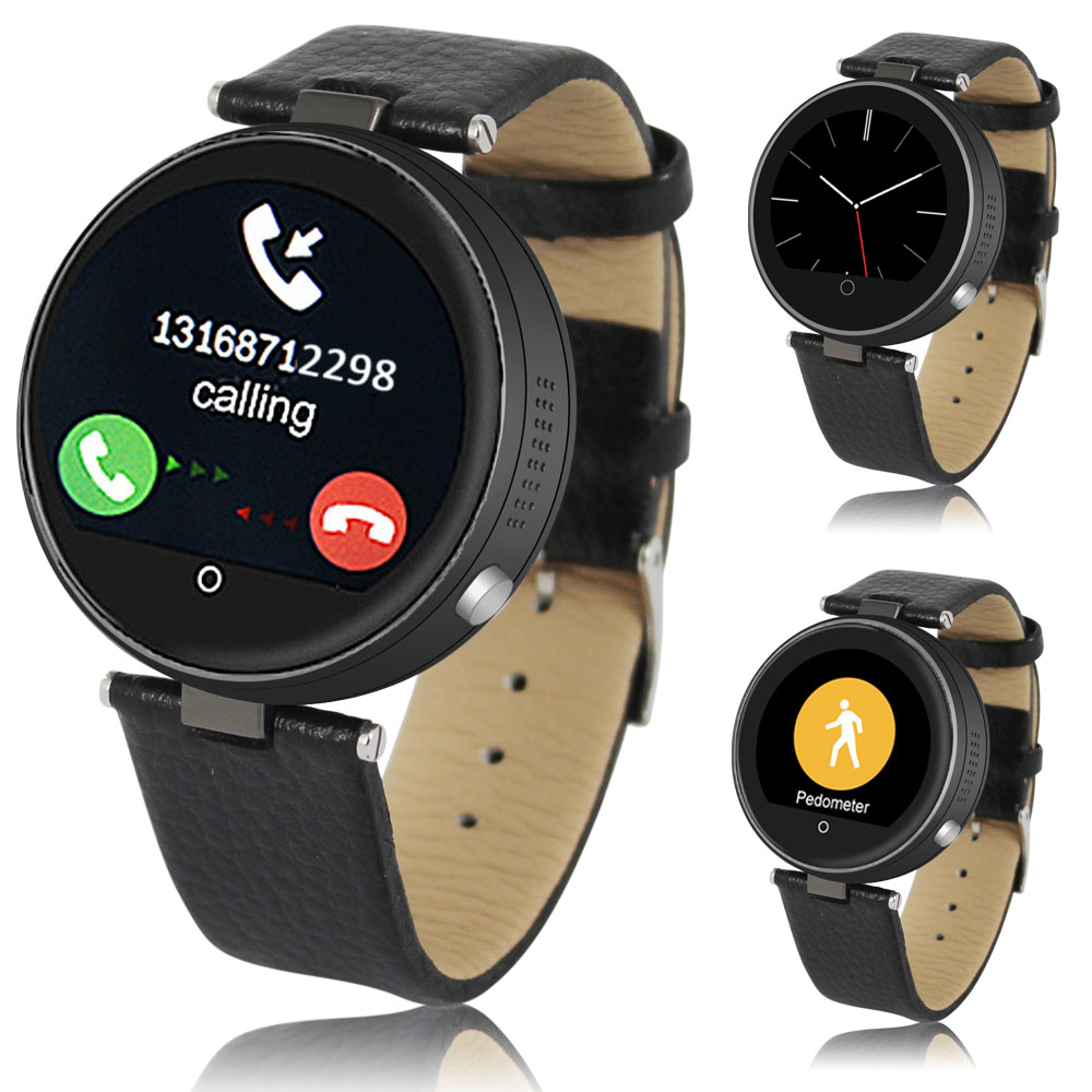 Indigi® (Black) HD Bluetooth Sync SmartWatch & Phone w/ SIM Slot + SiRi + Heart