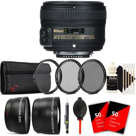 Nikon AF-S NIKKOR 50mm f/1.8G Lens with Ultimate Accessory Kit For Nikon Digital SLR Cameras ()