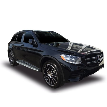 Broadfeet OE Replica Style Running Boards for 2017-2019 Mercedes-Benz GLC300 COUPE in Aluminum ()