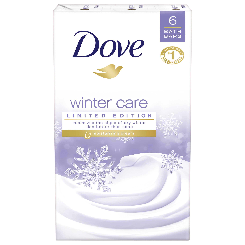 Dove Winter Care Beauty Bar, 4 oz, 6 Bar