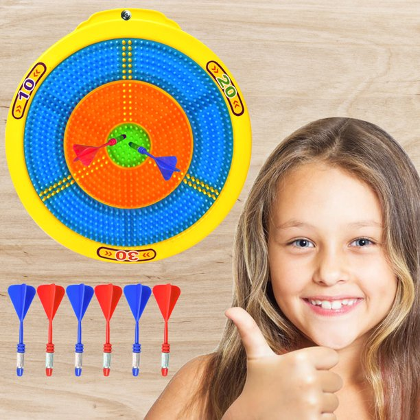 Wonderplay 13 inch Target set Dart Board Shooting game for Kids Great Gift, Party Activity, Bedroom Wall Decor Idea