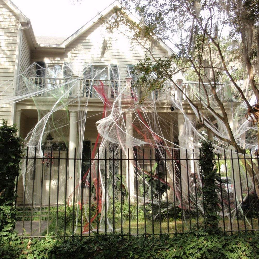 Halloween Spider Webs Stretchable (400 Square Feet) Extra ...