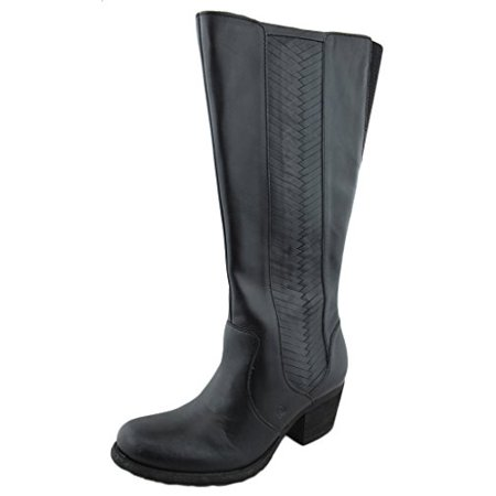 91c4146df22 Born Women's Leather May Woven Braid Side Tall Boots