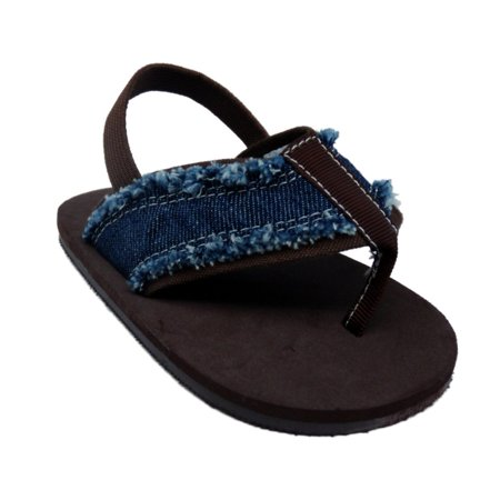 First Impressions Infant Girls Blue Denim Sandals Baby Thongs Crib