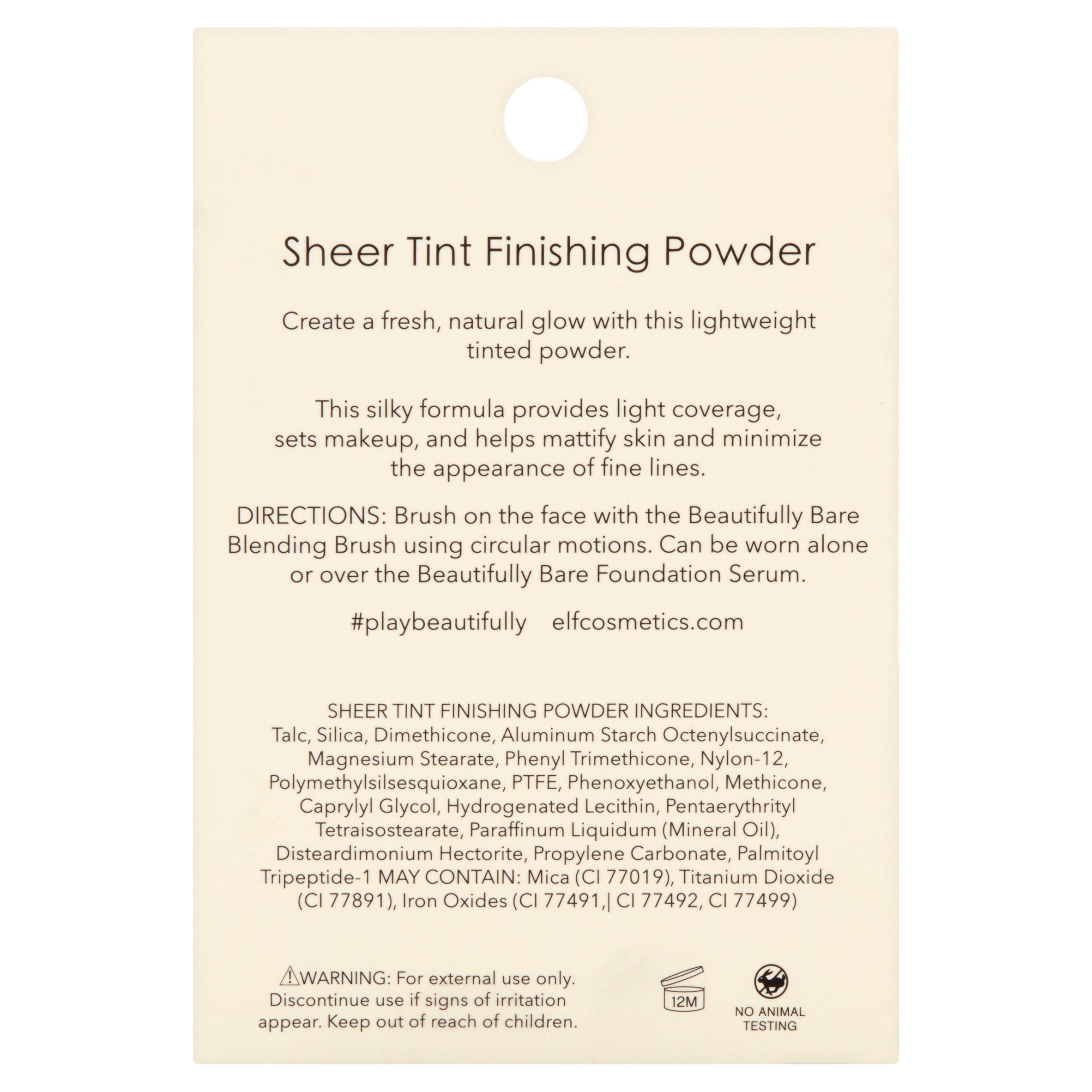 elf cosmetics beautifully bare sheer tint finishing powder lightmedium walmartcom