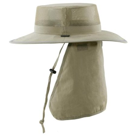 Stetson Size Xlarge Mens Microfiber Boonie Hat with Neck Flap, Khaki