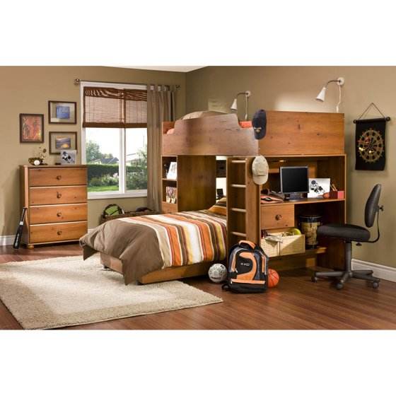 South shore twin loft bed for South shore bedroom set walmart