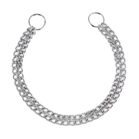 Rope Choke Collar (Pet Dog Chain Necklace Stainless Steel Training Choker Collars)