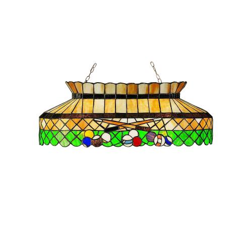 """Meyda Tiffany 28500 Green Billiard 3 Light 32"""" Wide Billiard Chandelier with Tif by Meyda Tiffany"""