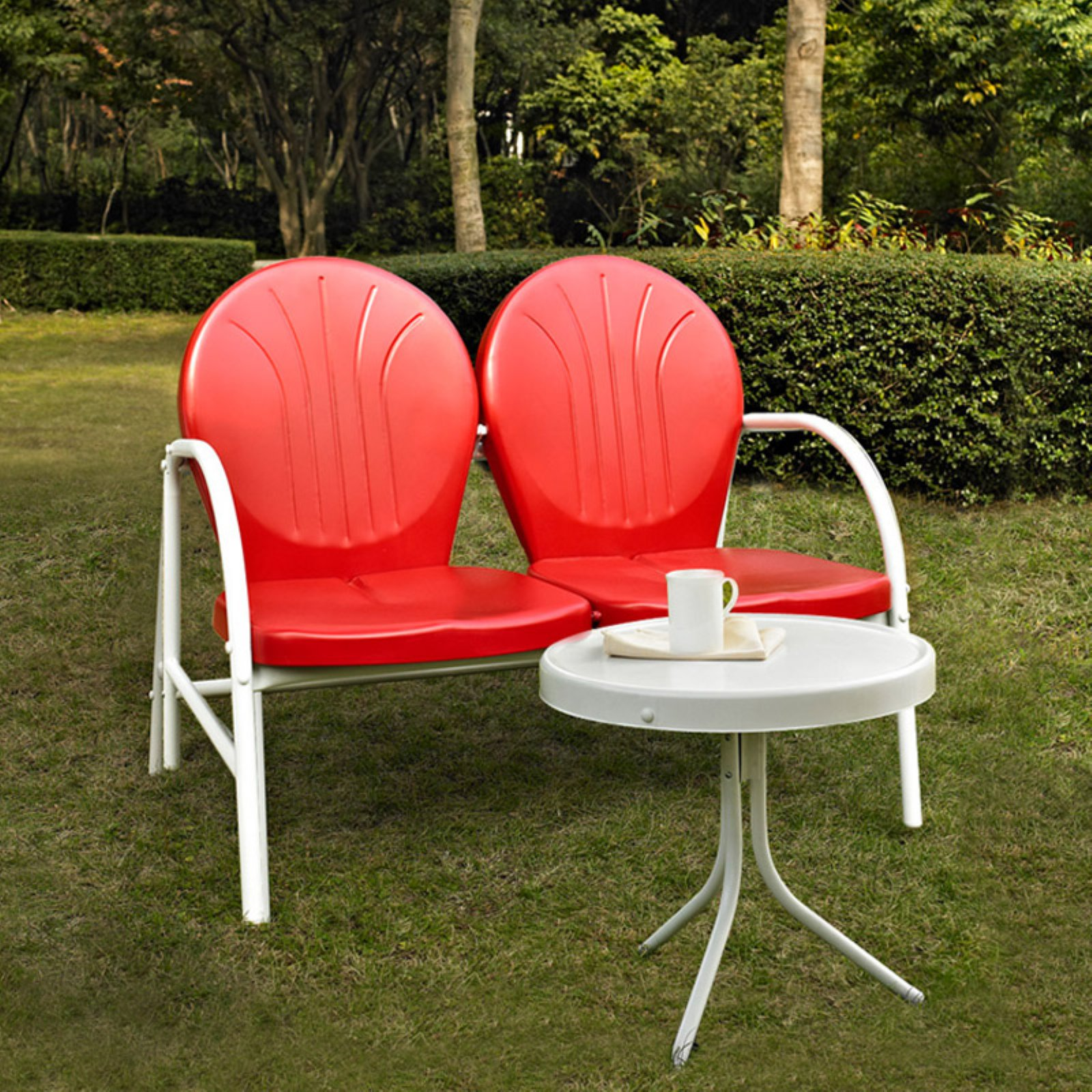 Crosley Furniture Griffith 2-Piece Metal Outdoor Conversation Seating Set